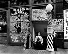 Blossom Restaurant, Barber Shop, 103 Bowery NYC 1935: Vintage Photo Reprint