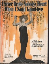 I Never Broke Nobody's Heart When I Said Goodbye 1923 Mae West Sheet Music