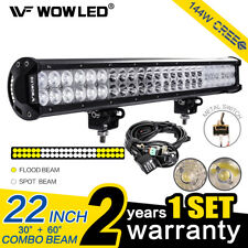 144W CREE LED Combo Offroad Driving Work Light Bar ATV Truck 4X4 + Wiring Kit