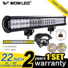 144W CREE LED Luz de Trabajo Barra de Conducción Combo Offroad ATV Camión 4X4 + Kit de cableado