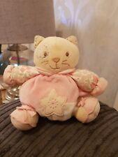 Kaloo Cute Floral Cat Kitten Soft Hug Toy Rattle  Comforter