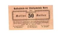 1920 Austria BORN 50 Heller Banknote / Notgeld
