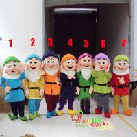 Snow White & The Seven Dwarfs Mascot Costume Parade Halloween Party Cartoon Suit