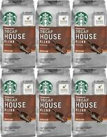 Starbucks DECAF House Blend Ground Coffee (6) 12 oz bags Medium Roast BB 01/20