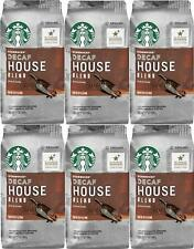 Starbucks DECAF House Blend Ground Coffee (6) 12 oz bags Medium Roast BB 01/20