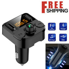 Bluetooth Car FM Transmitter MP3 Player Hands-free Radio Adapter Set USB Charger