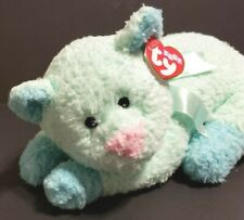 TY Kittybaby Pillow Pals Rattle Teal Cat With Tag 2000