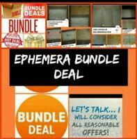 Ephemera Bundle Lot Deal Vintage Antique in AUCTION