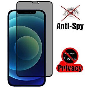 PELLICOLA VETRO TEMPERATO PRIVACY per Iphone 12 Pro Max Mini ANTI SPY 3D 9H FULL