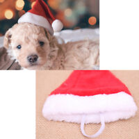 Christmas Pet Santa Hat Small Puppy Cat Dog Xmas Holiday Costume Ornaments