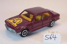 Majorette 1/60 no 256 BMW 733 Sedan rotmetallic Ligue Rhone Alpes No. 2 #564