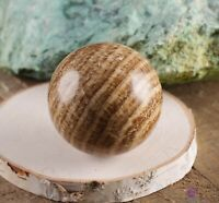 ARAGONITE Banded Crystal Sphere-Housewarming Gift, Crystal Ball,Home Decor E0228