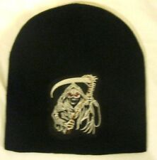 Sons of Anarchy Grim Reaper Embroidered Black Winter Knitted Skull Beanie Cap