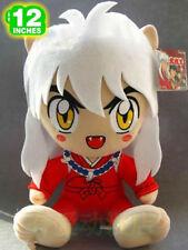 """12"""" Inuyasha sitting Inuyasha rare Red doll plush toy 2017 gift Animation Art"""