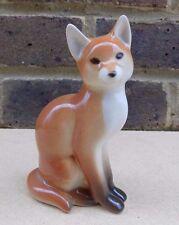 LOMONOSOV RUSSE porcelaine Fox figurine