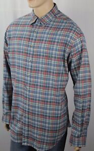 Ralph Lauren Blue Red Plaid Classic Dress Shirt Green Pony NWT