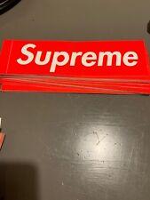 SupremeRed Box Logo Sticker 100% Authentic