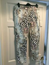 RIVER ISLAND FOLLOW YOUR DREAMS FUNKY PRINTED JEANS UK 14