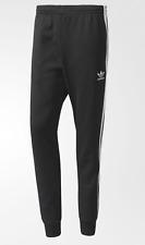 NEW MEN'S ADIDAS ORIGINALS SUPERSTAR CUFFED TRACK PANTS ~ LARGE  #AJ6960 BLACK