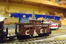 CHICAGO & EASTERN ILLINOIS (C &EI) #1 NORTHEAST   N-Scale Custom Painted Caboose