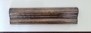 Uk produced Brown marbled designer swan neck moulding border 20x5cm