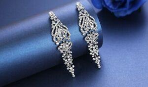 Crystal Statement Chandelier Pierced Earrings - New in Gift Box