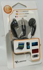 NEW Subsonic Ear Bud Headphones 3DS DSi XL PSP iPad/iPhone 4s 5 MP3 Player 3.5mm
