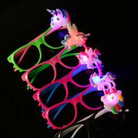 12 LED Unicorn Glasses Light Up  Sunglass Flashing Unicorn Party Favors