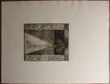 Original Signed Etching By Listed Italian Artist Arturo Carmassi, 1958