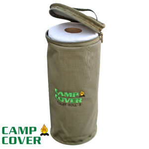 Camp Cover 3 Roll Toilet Roll Holder - 13 x 31 cm - Khaki Ripstop - CCK004-A