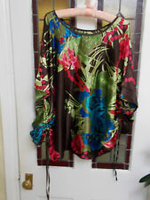 SUMMER FLORAL BEACH/ PARTY TOP XL LADIES CLOTHING