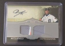 2011 Topps Marquee AUSTIN JACKSON Autograph Jersey Patch Baseball Card SP /70