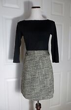 NWT ANN TAYLOR LOFT Button Tabbed Waist Tweed Skirt Size 4, 8, 12