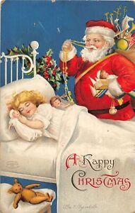 H62/ Santa Claus Christmas Postcard c1910 Ellen Clapsaddle Toys Child 112