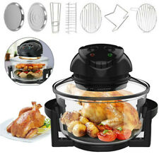 17-Quart Deluxe Air Fryer Healthy 1400W Infrared Convection Halogen Oven No Oil