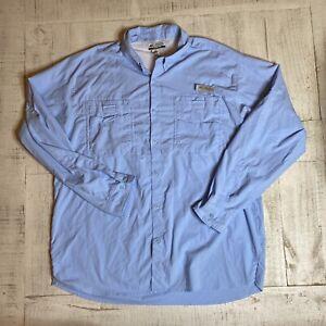 "Mens Columbia PFG ""Tamiami II"" Omni-Shade XL Long Sleeve Fishing Shirt Blue"