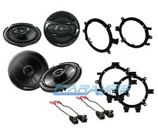 "NEW PIONEER 6.5"" TRUCK SUV STEREO FRONT & REAR DOOR SPEAKERS W/ MOUNTS & WIRING"
