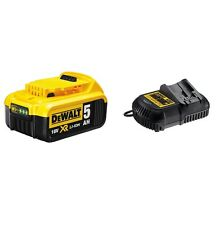 DeWalt 18v Li-ion 5.0Ah Battery and 18V XR Li-Ion Battery Charger