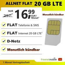 Sim Karte Only mit Vertrag monatlich kündbar Allnet SMS Flat 20 GB LTE Datenflat