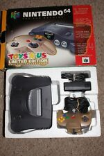 Charcoal Grey Nintendo 64 System Console with Box Bundle w/ Gold Controller TRU