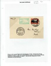 Graf Zeppelin 1932 Luposta Flight - Danzig Exhibition Postmark on Card