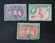 Ckstamps: Gb Stamps Collection Nyasaland Scott#109-111 Mint Nh Og