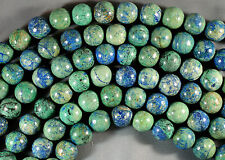 """GORGEOUS NATURAL BLUE GREEN CHRYSOCOLLA 16MM ROUND BEADS 16"""" STRAND"""