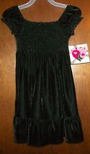 Girls Dress sz 18 mos HART STREET Black Soot Velour Poly Spandex All Season NWT
