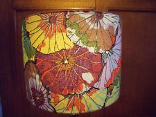 Handmade Drum Lampshade 45CM in Kaffe Fassett Lotus Leaf Antique fabric