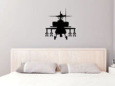 "23"" HELICOPTER ARMY VINYL DECAL STICKER INSIDE HOME WALL DECOR"