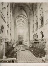 Interior Notre Dame Cathedral Paris 1860s Leon & Levy Albumen Print Photograph