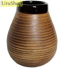 M92 ceramica Mate Coppa per erba Mate forma naturale con strisce