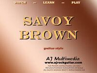 Custom Guitar Lessons, Learn Savoy Brown - DVD Video