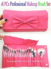 18 PCs Makeup Brush Set- Professional Make Up Brush Set Purse *US SELLER*